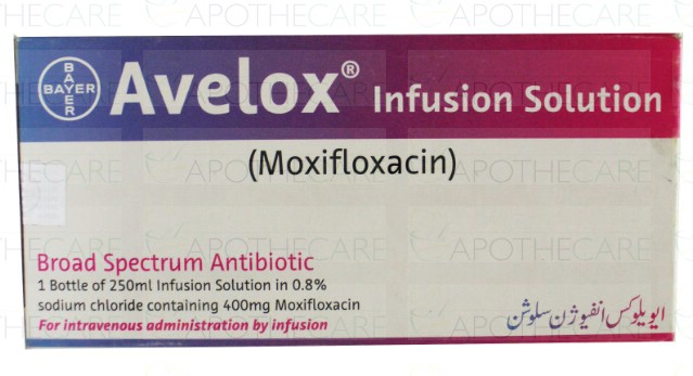 What is the negative reaction between avelox and alcohol