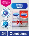 Durex Feeling bundle - Durex Invisible condoms of 12's with Feel Ultra Thin condoms of 12's