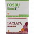 Package of Fosbu Tab 400mg 28's  +  1 Pack of Daclata  Tab 60mg 28's