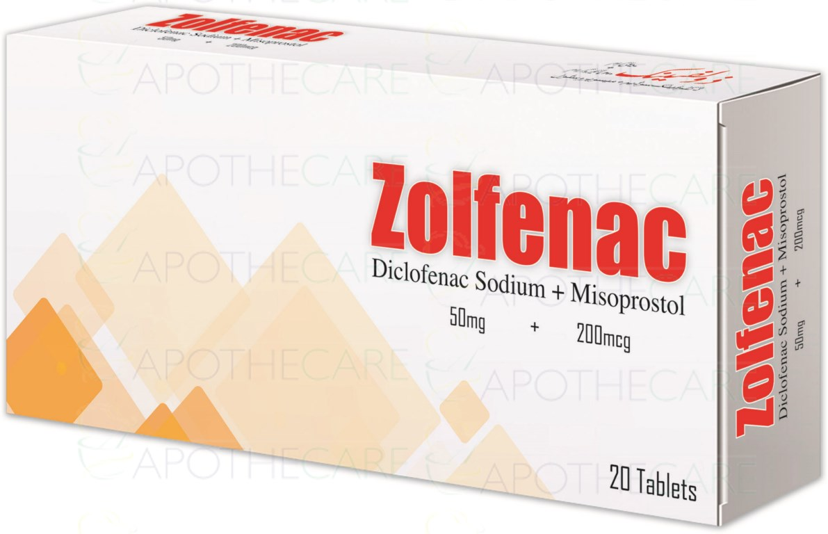 Zolfenac Tab 50mg/200mcg  20's