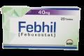 Febhil Tab 40mg 20's