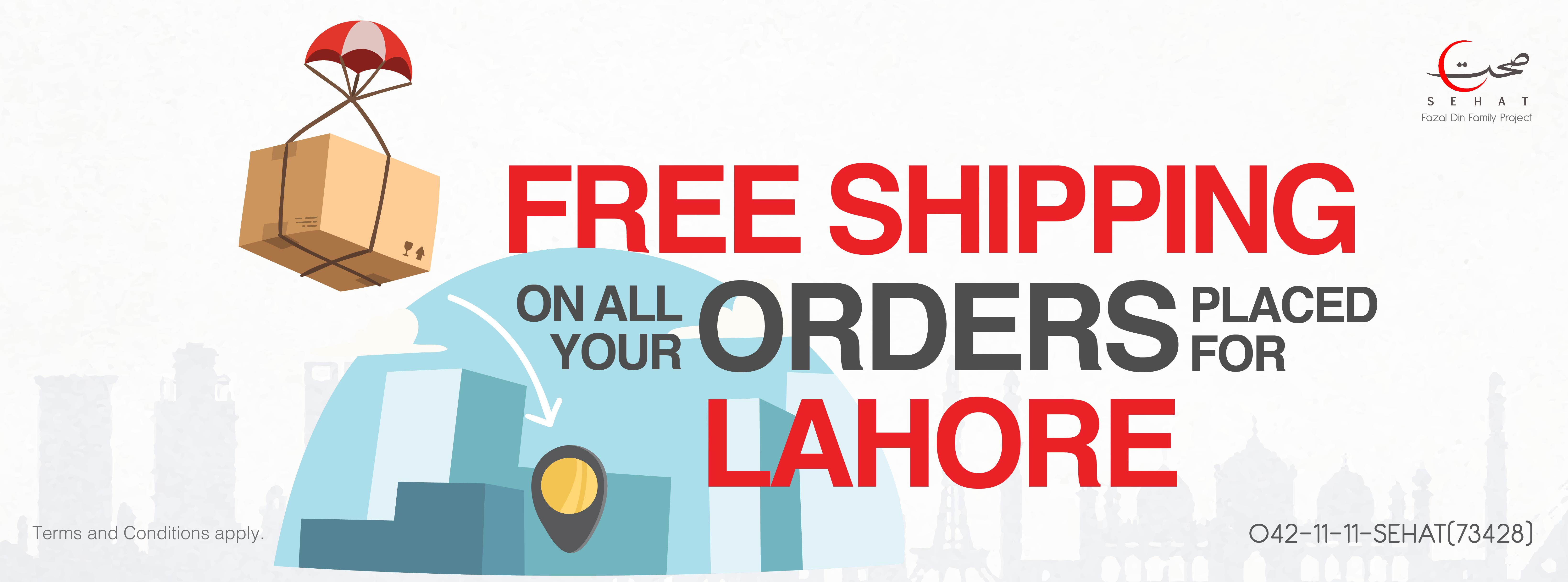 Free Shipping in Lahore