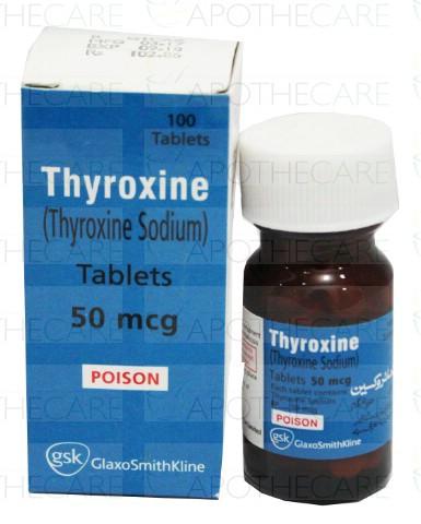Thyroxine Tab 50mcg 100 S